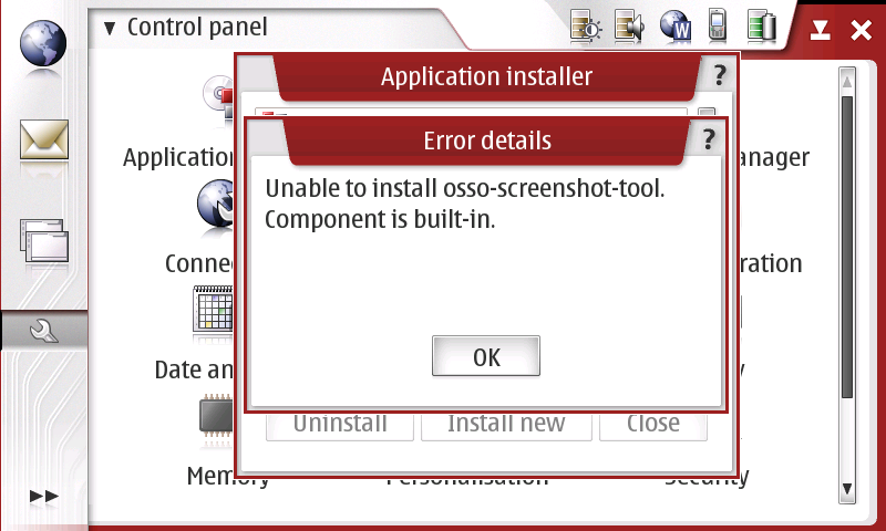 Detailed error message