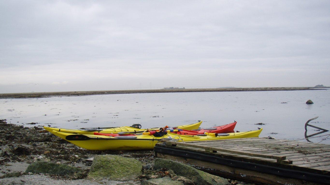 Our kayaks at Saltholm