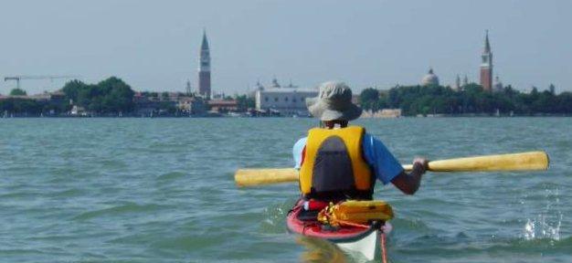 Paddling in Venice