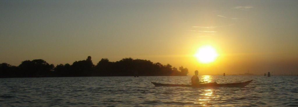 The lagoon at sunset