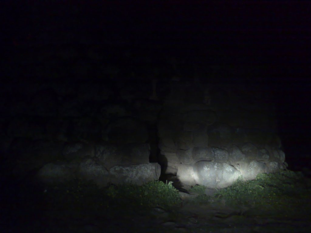 A nuraghe by night