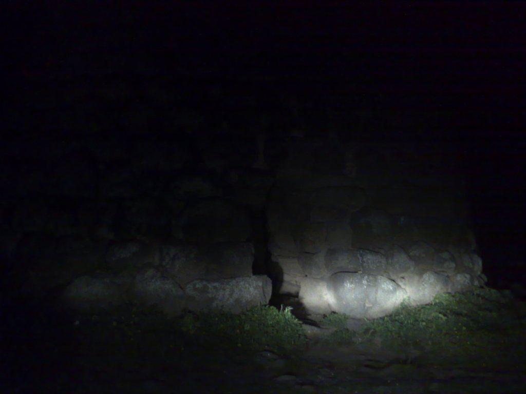A nuraghe by night