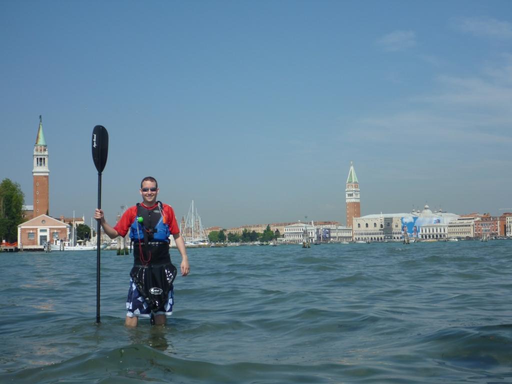 Lagoon pedestrian - Matt Davis standing in front of St. Mark's