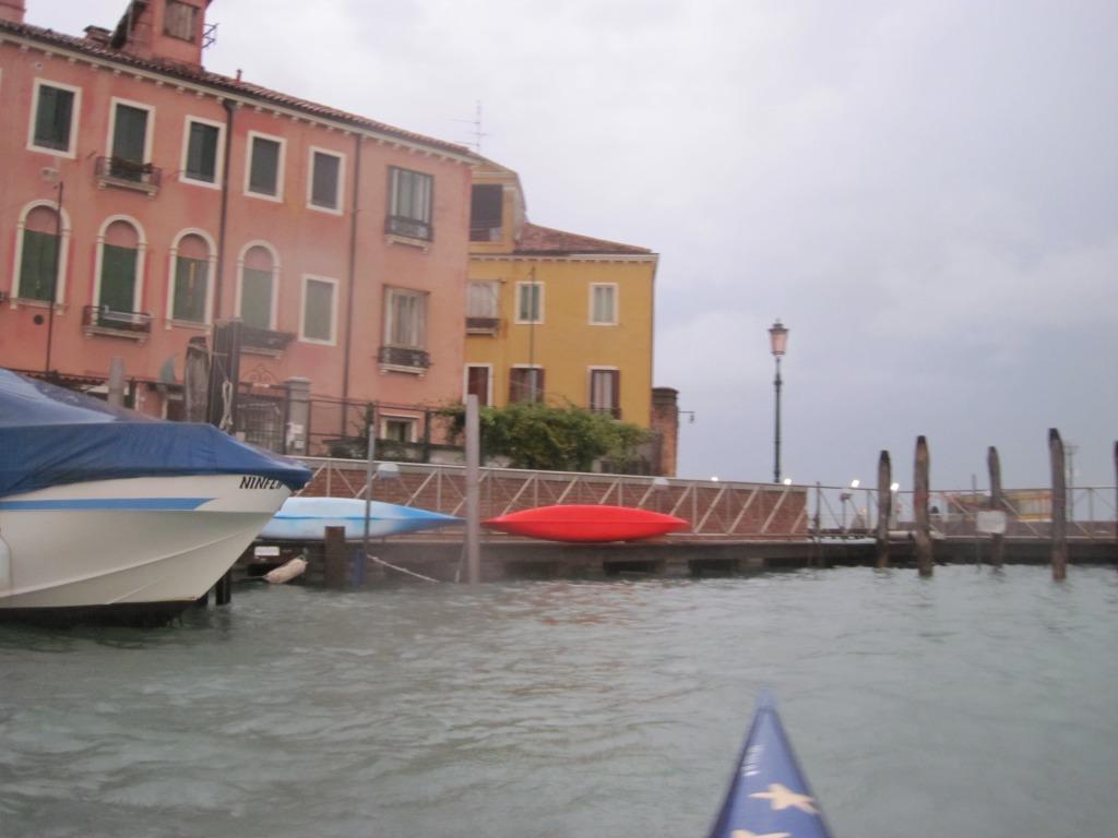 Acqua Alta - kayaks at Olivolo
