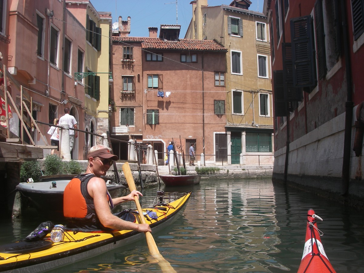 Kayaking anniversary in Venice