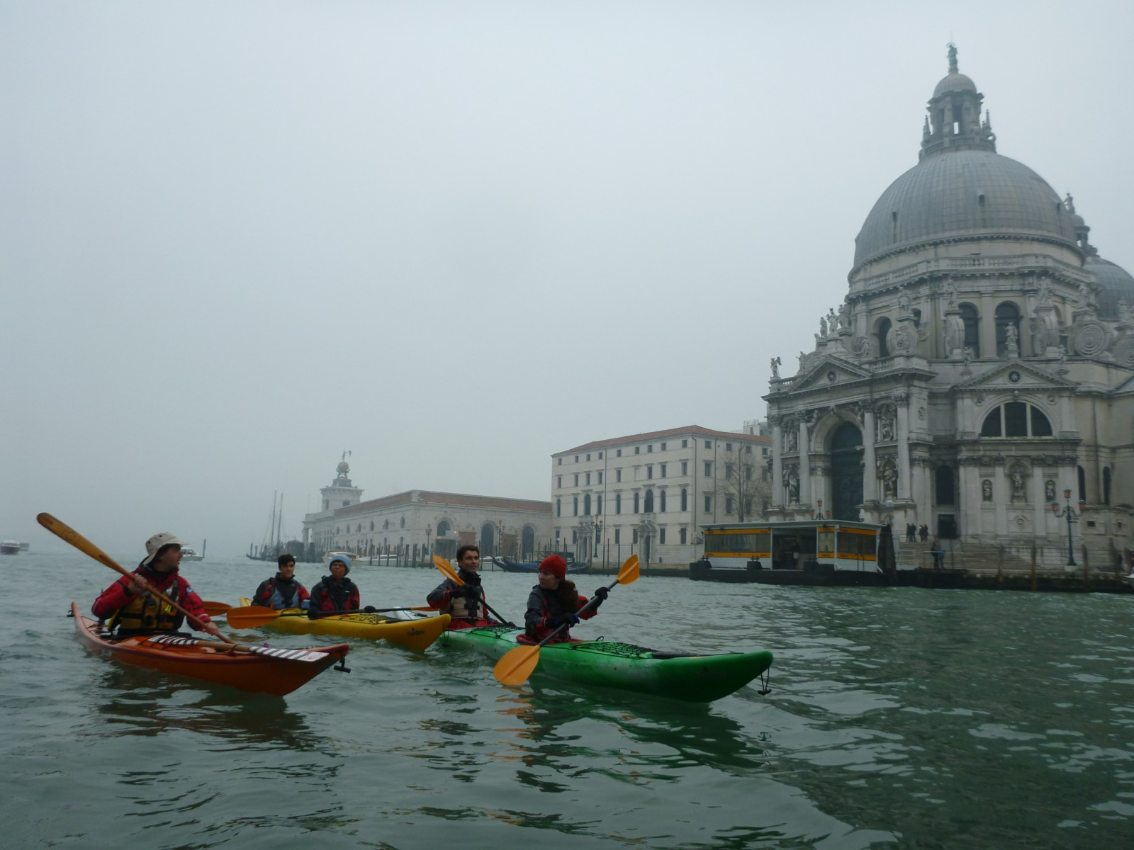On the Grand Canal with Madonna della Salute