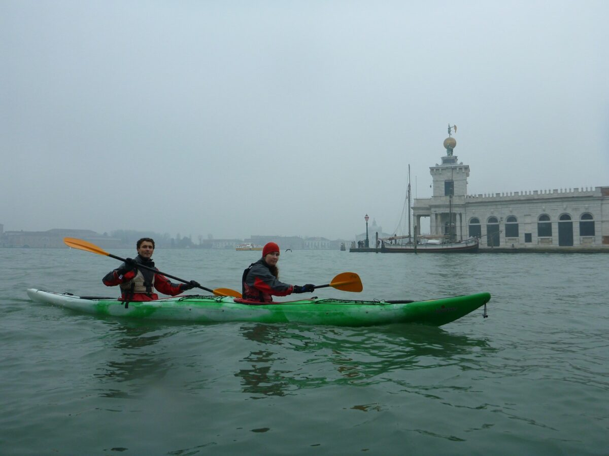 At the end of the Canal Grande with the Punta della Dogana