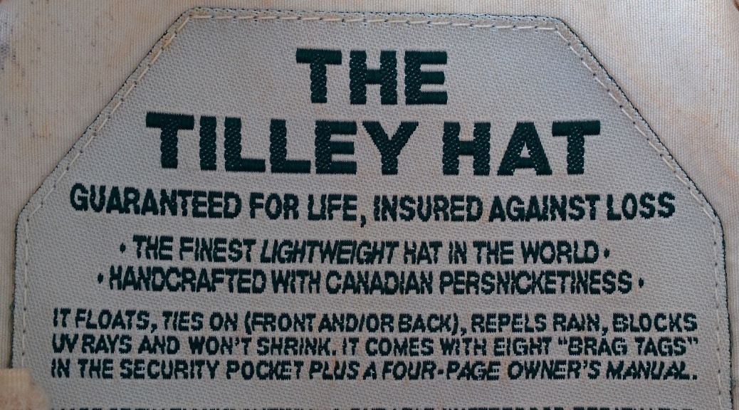 Tilley Hat - guaranteed for life