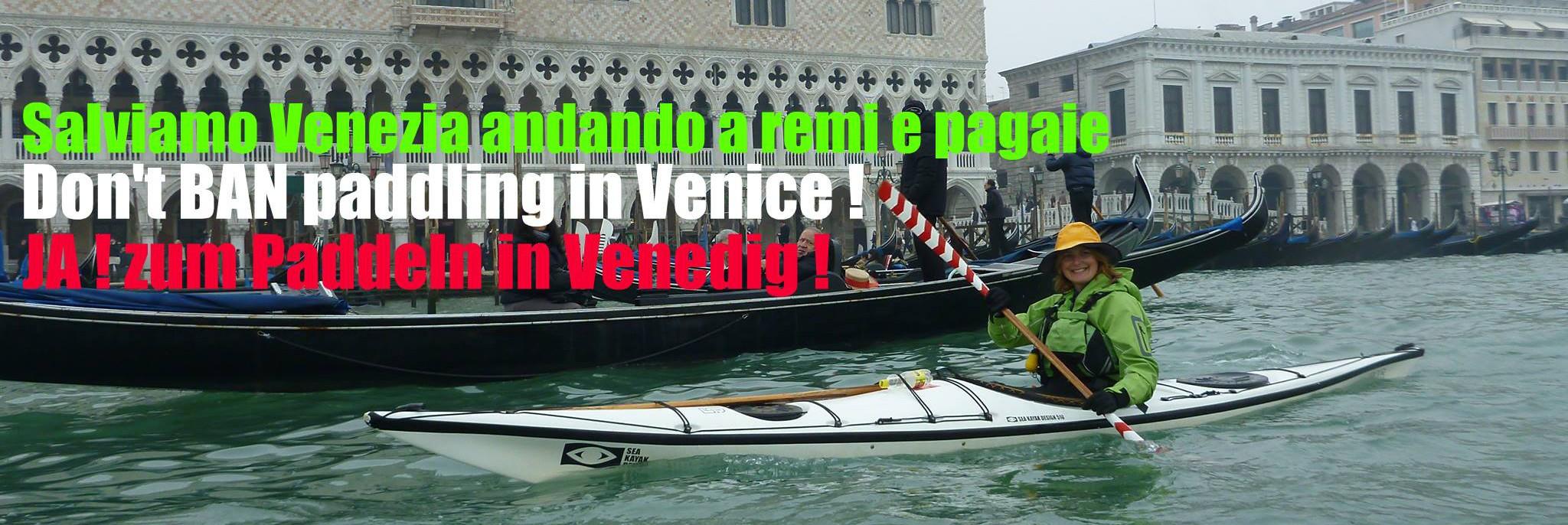 Salviamo Venezia andando a remi e pagaie