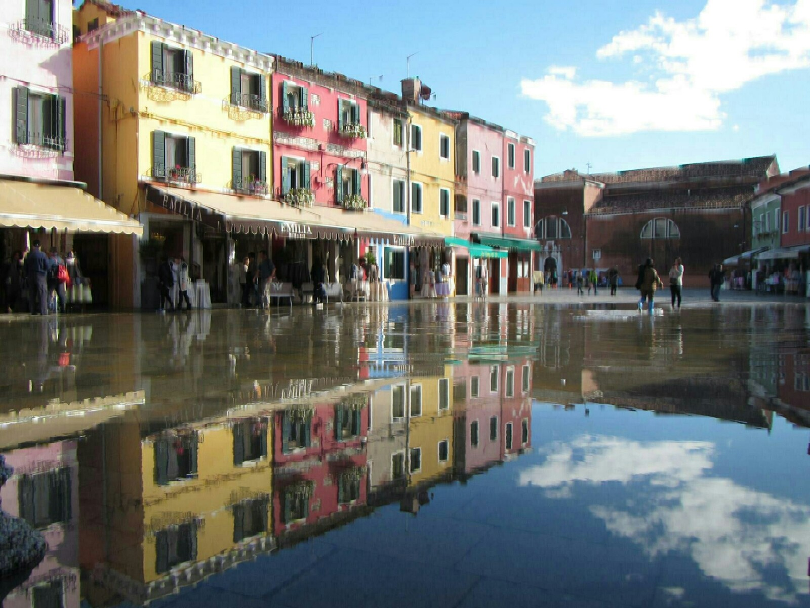 Burano at high tide