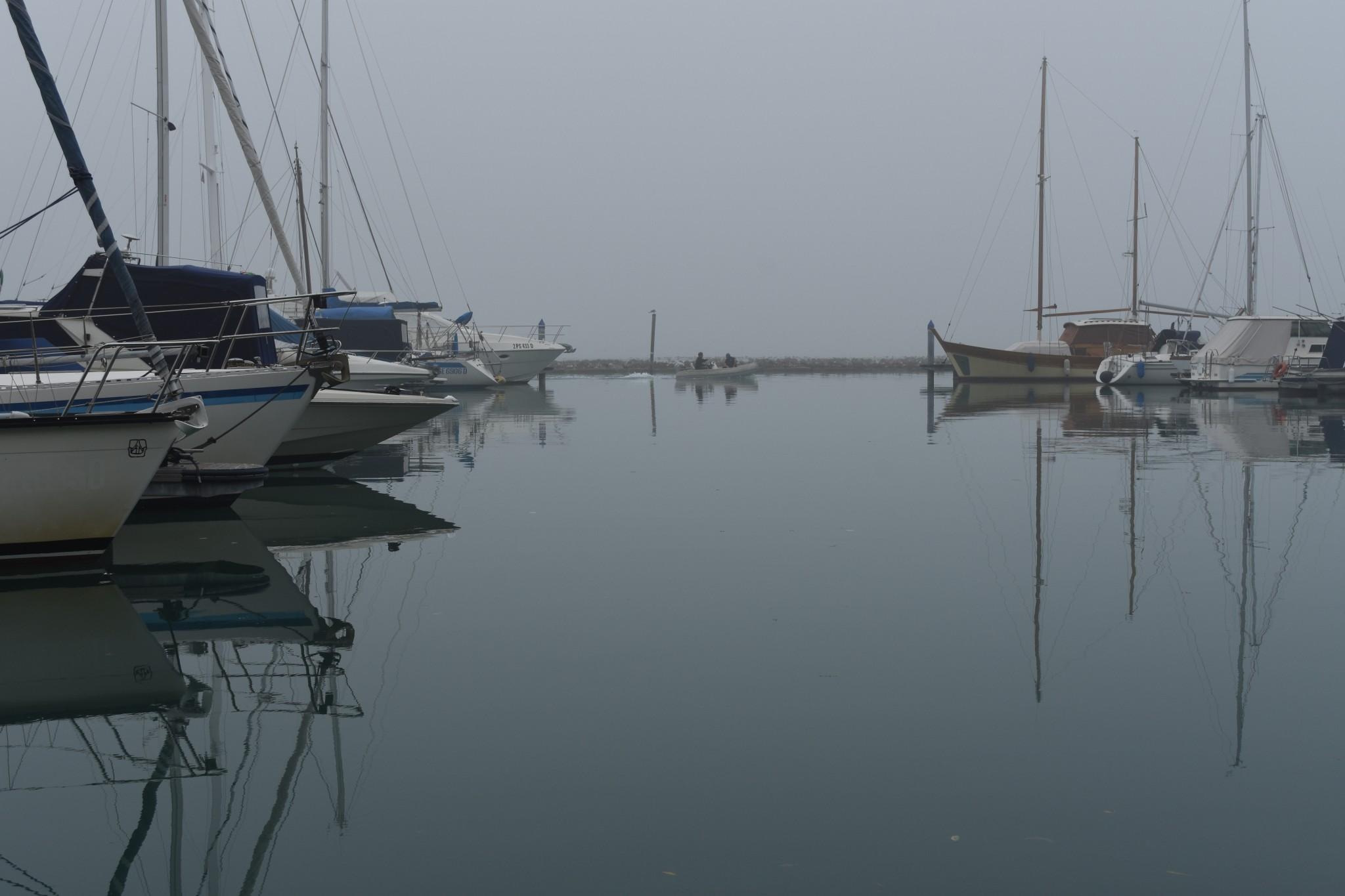Misty day on the Certosa island