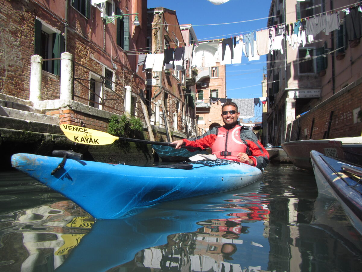 Kayaking in Venice