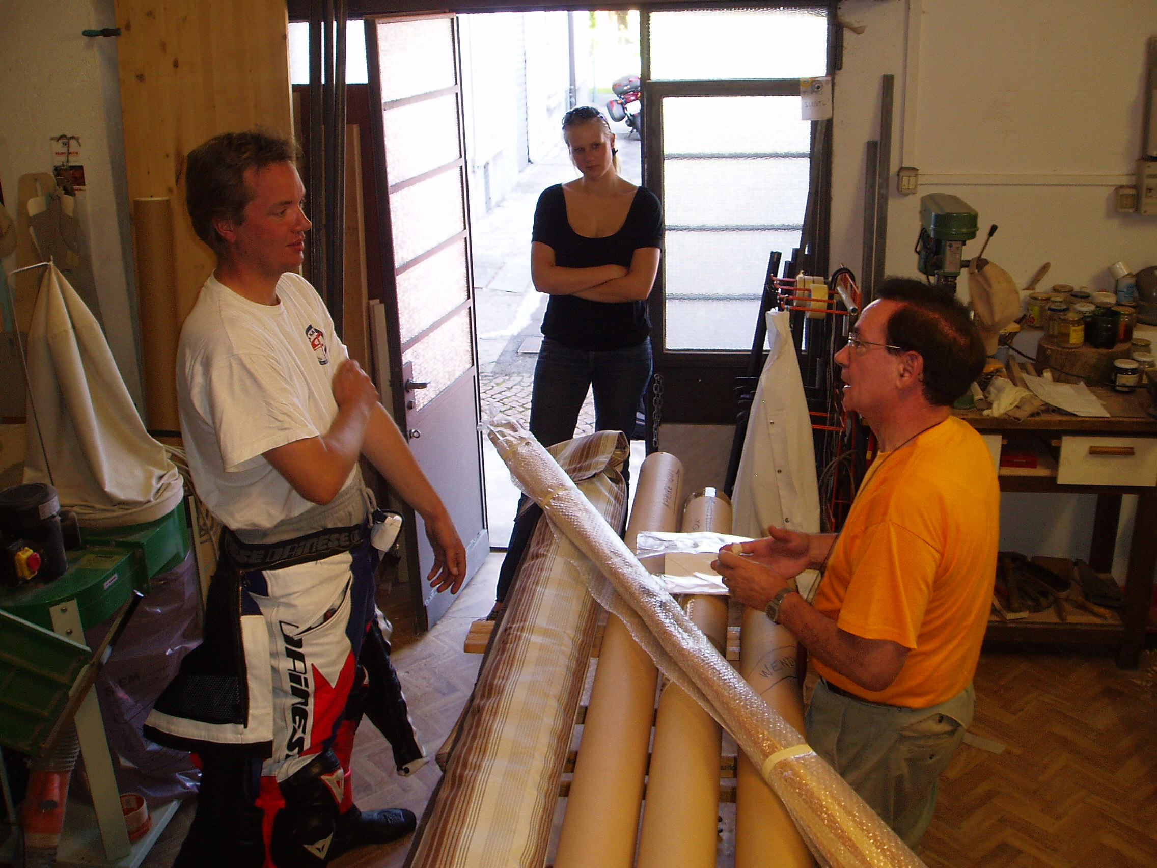 Nicola de Florio in his workshop