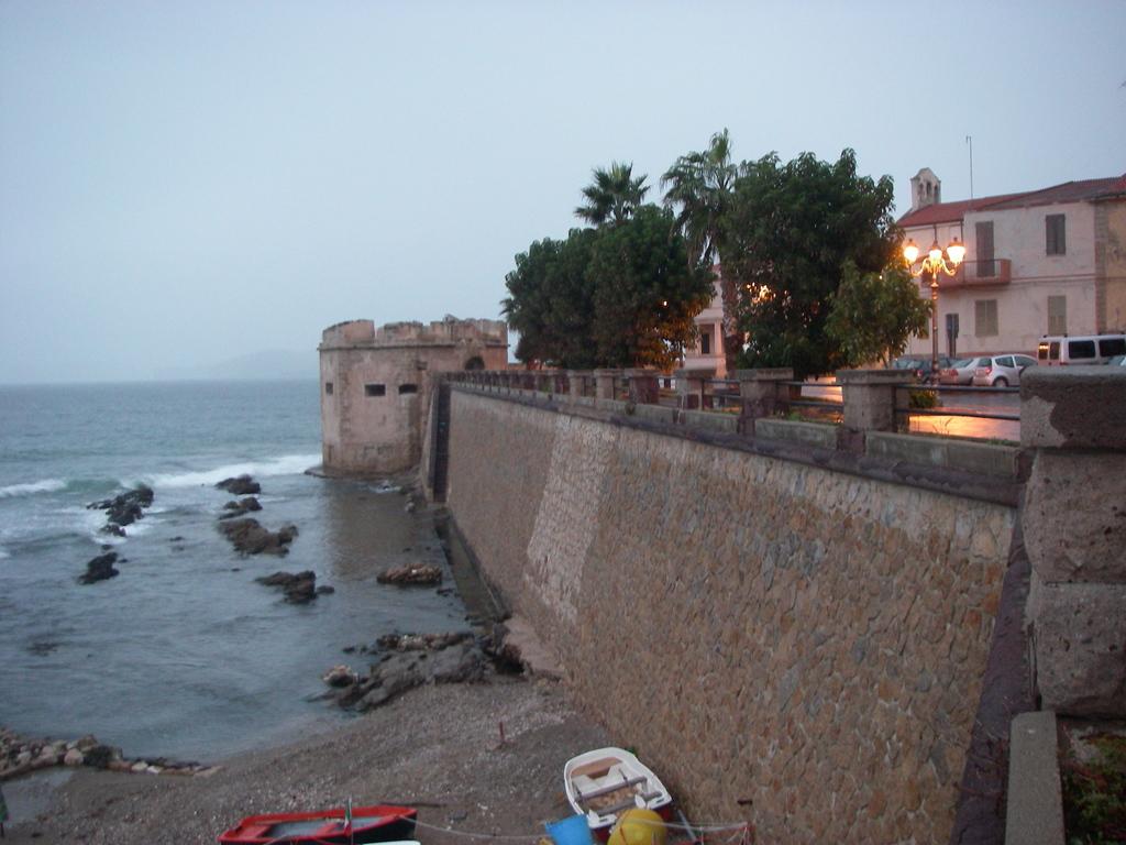 Alghero city walls towards the sea