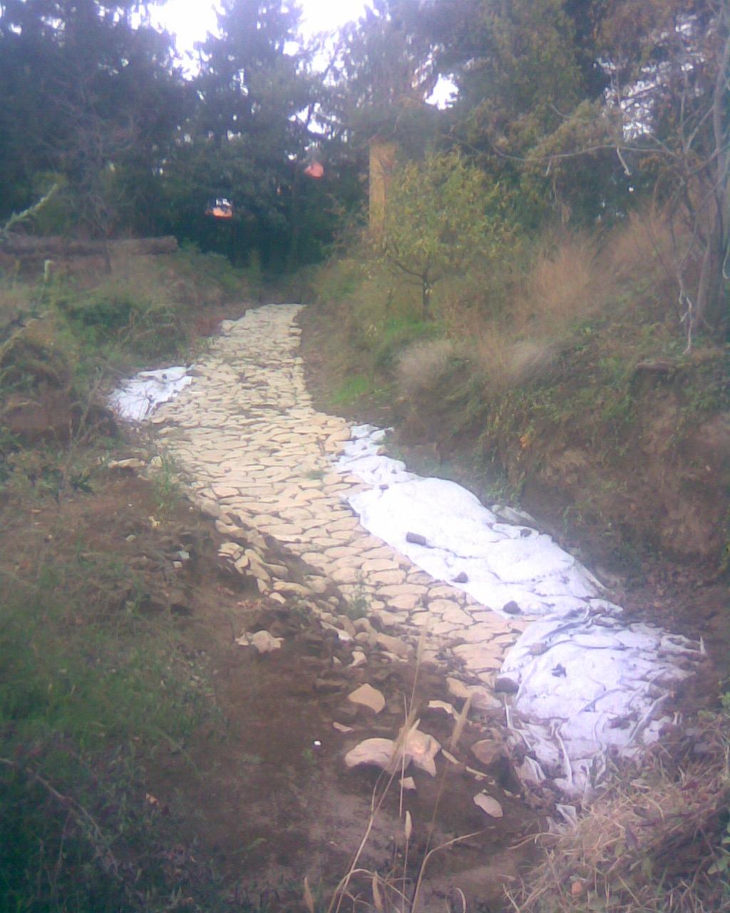 Roman road at Grottaferrata