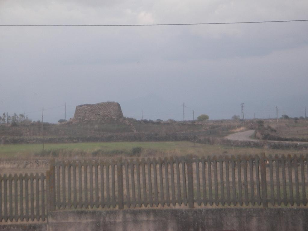 Nuraghe seen from train at Marcomer