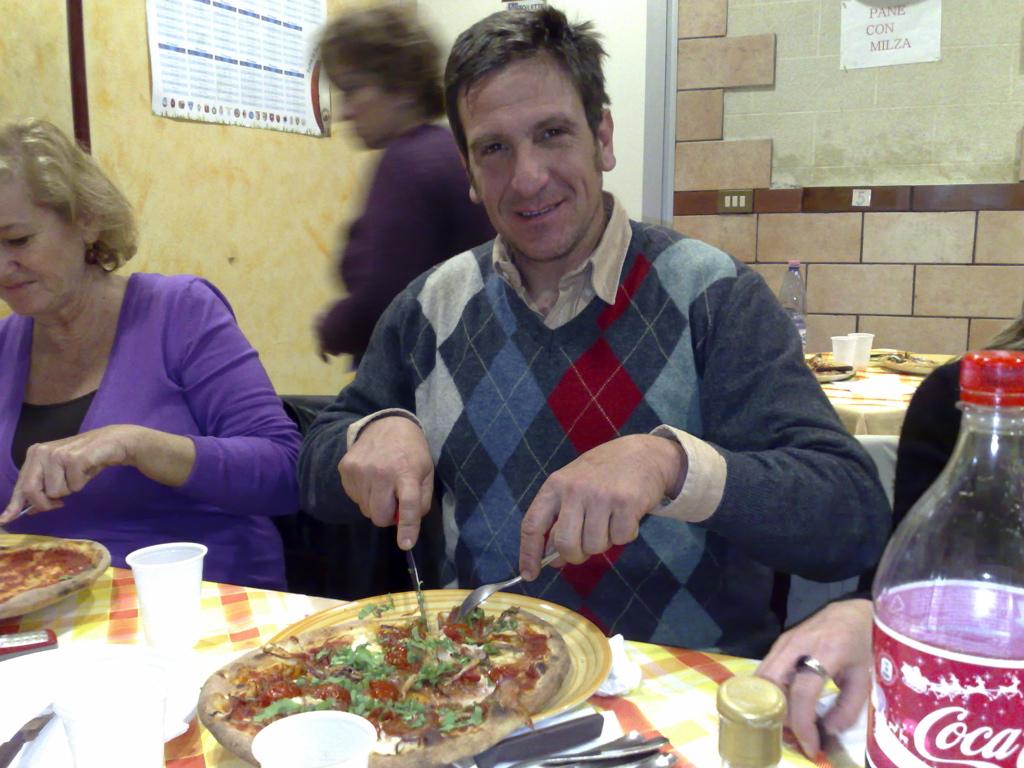 Signor Bartoli and pizza