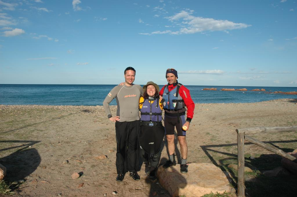 Francesco, Valentina and me at the Cardedu beach
