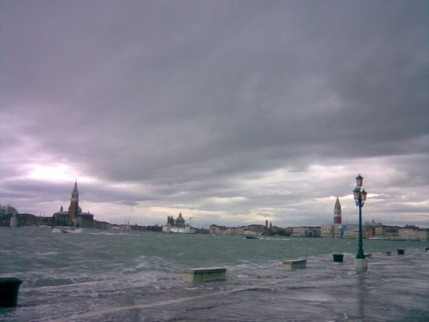 Exceptional high tide in Venice