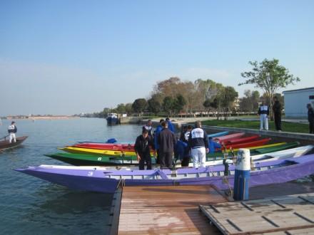 Diadora end of season - Wading around on the boats.