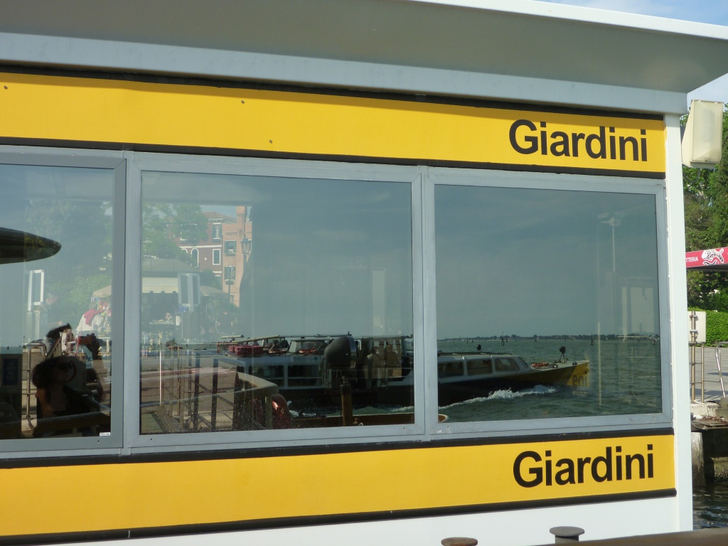The Bacino San Marco seen from the Giardini stop