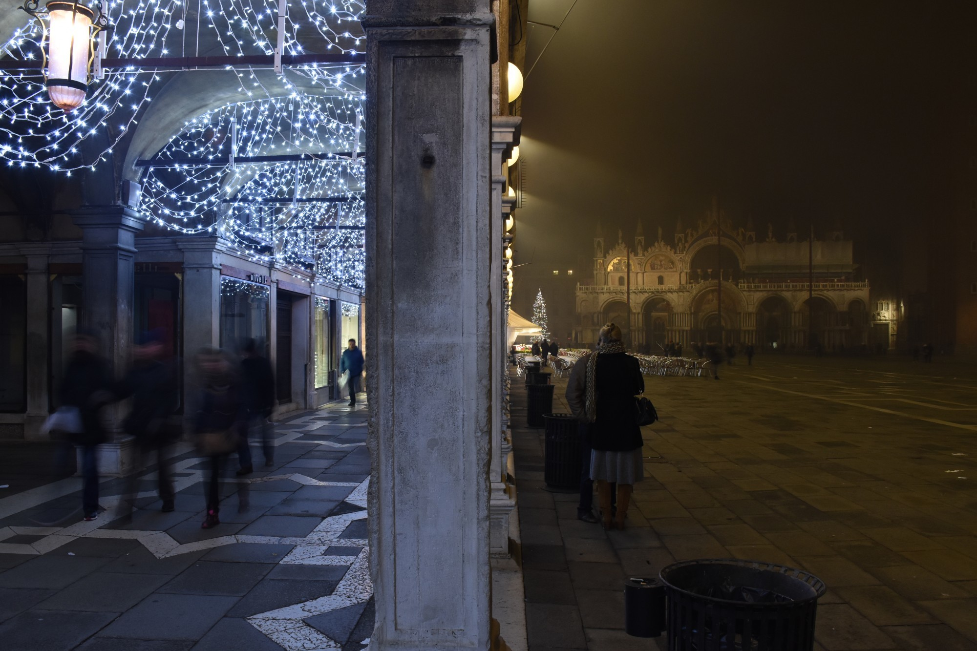 Saint Mark's evening fog