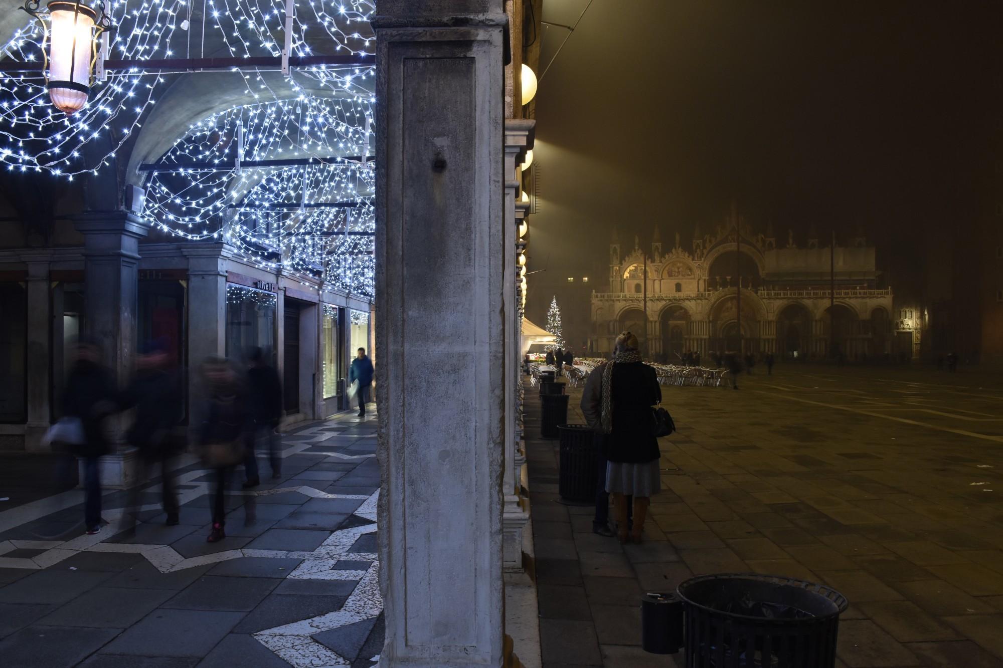 Saint Mark's evening fog