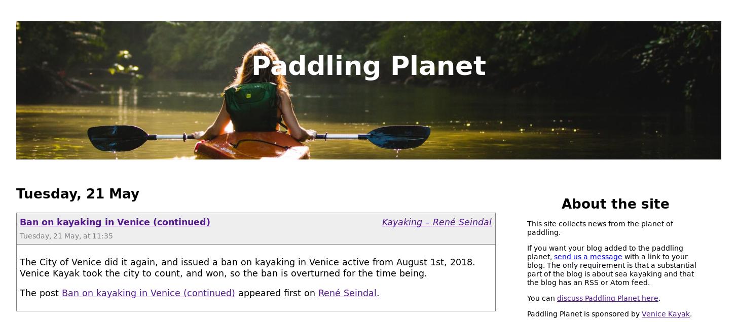 Screenshot of Paddling Planet